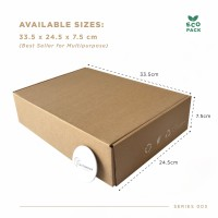 Box Packaging (33.5x24.5x7.5 cm) Kardus Premium 25 Pcs Ready Stock