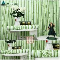 Wallpaper Stiker Dinding Motif Bambu Muda Ukuran 10m x 45cm
