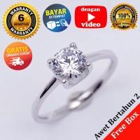 RL 246 - Cincin Perak Sterling 925 Emas Putih ASLI Korea, Awet 7 thn - 6