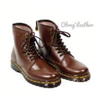 Sepatu Wanita Boot Casual Docmart 8hole Premium 1070 - Cokelat, 38