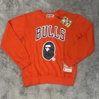 Hoodie Jaket Sweater Bape X Bulls Nba Import Ready Stock Tulipindah12