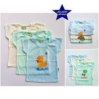 Baju atasan anak Hello baby motif warna isi 3 pcs
