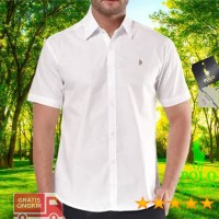 Baju Kemeja C28-14 Putih Polos Lgn Pendek POLO COUNTRY Pria Original