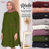baju atasan risda tunik muslim wanita simple casual santai trendi top