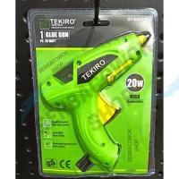 Tekiro Alat Tembakan Lilin Stick Glue Gun 20 Watt + Bonus 2 Batang Lem
