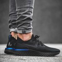 Sepatu Nike Epic React Flyknit Black Blue