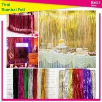 Backdrop | Banner Rumbai | Tirai Foil | Curtain Foil 2 meter