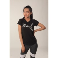 Baju Olahraga Wanita Puma VNeck 03PMT000|Kaos Lari Fitness Cewe Murah