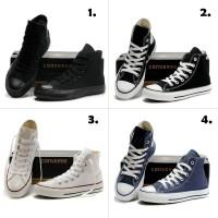 Sepatu Converse High 4 Warna (FULL HITAM,HITAM PUTIH,FULL PUTIH, ABU)
