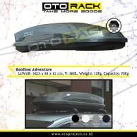 Roofbox roof box otorack adventure black glossy 360L bagasi atas mobil