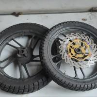 Velg Racing Original CS1 Bonus Ban Tapak Lebar Depan/Belakang