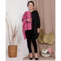 Blouse Batwing Batik Fuschia