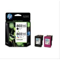 HP 802 ORIGINAL Combo pack tinta Hitam Black dan Colour Warna ink