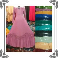 baju gamis wanita V Rempel Jersey Gamis