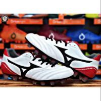 Sepatu Bola Mizuno Monarcida Neo Wide - White/Black/Chinese Red