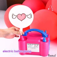 Portable Electric Balloon Inflator Pump Two Nozzle High Power Air