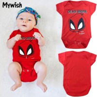 [Ready Stock]Baby Summer Spiderman Dead Short Romper Clothes