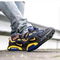 Sepatu Nike Airmax 200 Black Blue Yellow Premium Original