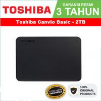 Toshiba Canvio Basic 2TB - External Hard Disk - Garansi Resmi