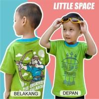 1 2 3 4 5 6 7 8 tahun baju kaos muslim anak little space hijau
