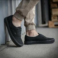 Vans Authentic Full Black | Sepatu pria wanita | Sneaker murah + Box