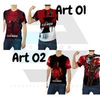 2Season5   Baju Kaos Tshirt Black Widow Movie 2020 Custom Fullprint