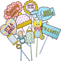 Photo Booth Props Baby Shower Papercraft