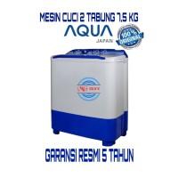 MESIN CUCI 2 TABUNG AQUA JAPAN QW - 781XT, HIJAB SERIES 7,5KG