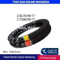 Ban Paket Depan Belakang 2.50-17&2.75-17 For Bebek Honda Yamaha Suzuki