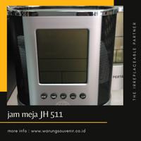 Jam Meja Digital dan Tempat Pen Aluminium JH511 | souvenir kantor