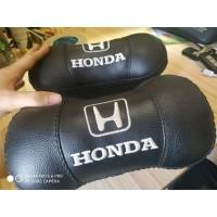 Bantal Mobil Head Rest Headrest Hitam Bordir Honda