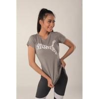 Baju Olahraga Wanita Puma VNeck 03PMT003|Kaos Lari Fitness Cewe Murah