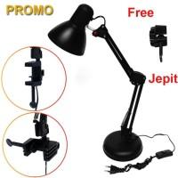 Lampu Arsitek / Lampu Meja / Lampu Belajar / Desk Lamp Duduk Dan Jepit