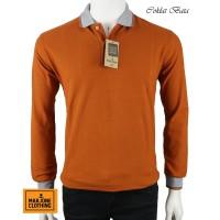 Polo Shirt Cotton Pique Lengan Panjang