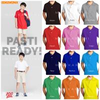 Kids Polo Shirt/ Kaos Polo Anak (2-12yrs) - M, Hitam