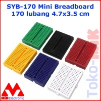 SYB-170 Mini Breadboard Bread Board 170 Lubang Point Arduino
