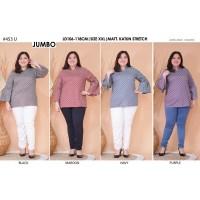 Blouse Batik Super Jumbo 453 Bigsize Baju Atasan Wanita Big Size vol24