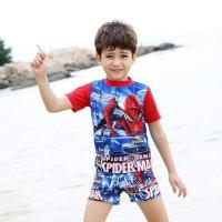 Terbaru - Discount Baju Renang Anak Transformer & Spiderman Dgn Topi