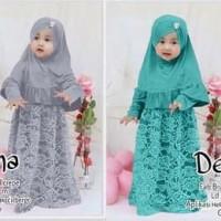 Baju Muslim Anak Lucu - Syari Anak Balita -Baju Pesta Muslim - DERENA