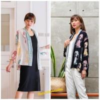 Baju Batik Wanita. Outer Cardigan Blazer Batik Kerja - Wayang rnb