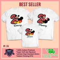 Baju Kaos Keluarga   Kaos Ultah   Kaos Couple   Motif Mickey