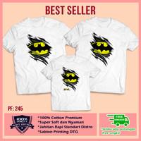 Baju Kaos Keluarga | Ulang Tahun | Couple | Motif Batman Bisa Custom