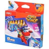 Deli super wings wax crayon φ8*90mm Round Barrel 12 colors EC21000