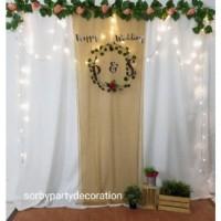 backdrop background photobooth lamaran wedding atau acara arisan