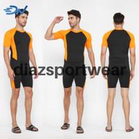 Pakaian renang dewasa Jumbo celana renang pria dan baju renang cowo - Hitam, M