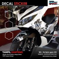 Striping Full Body PCX 150 Lokal Putih Kanji Splash DG Stiker