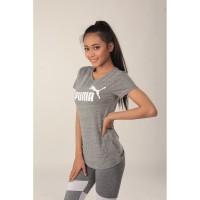Baju Olahraga Wanita Puma VNeck 03PMT009|Kaos Lari Fitness Cewe Murah