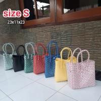 Tas Anyaman Plastik/ Tas Belanja/ Tas Pasar Jelly Bag size XS