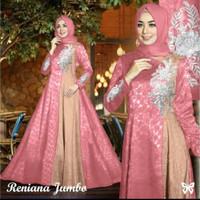 gamis jumbo bigsize baju seragam wanita muslim pesta pernikahan xl xxl