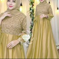 gamis mewah baju muslim wanita dress maxi maxy seragam pernikahan